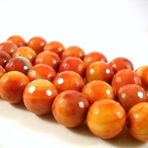 Orange Agate Beads