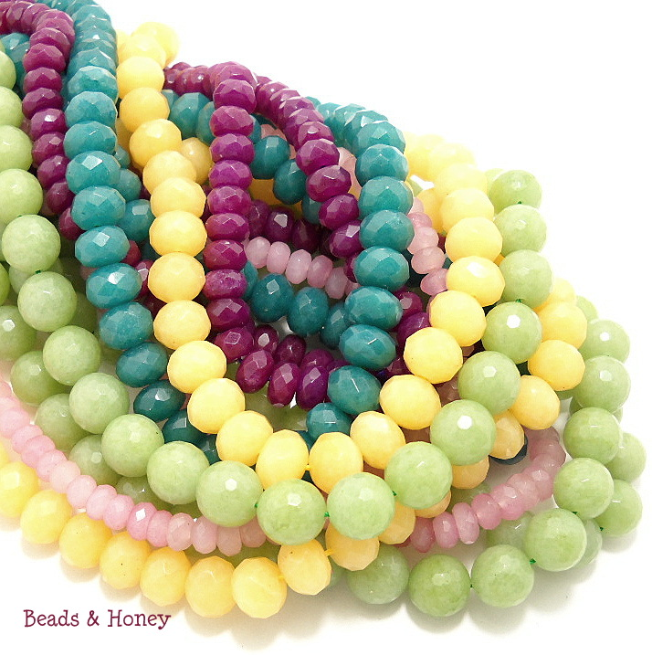 Dyed Jade Gemstone Beads