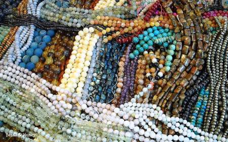 Mixed Gemstones from the Beads and Honey Trunk Show. Click to Shop!