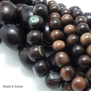 Ebony Wood Beads Mix