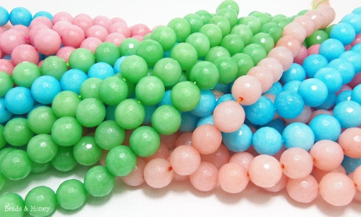 Dyed Jade Mixed Candy Colors