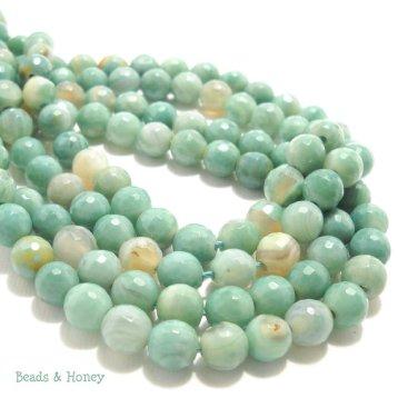 Sea Green Fired Agate Beads