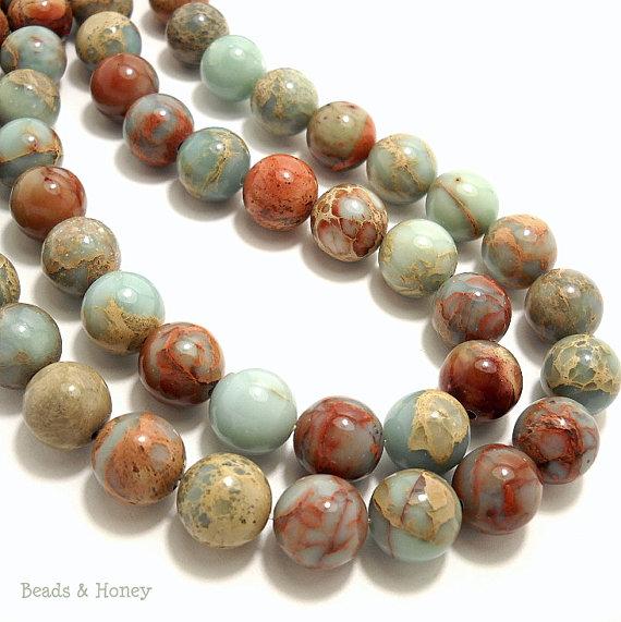 Aqua Terra Jasper Gemstone Beads