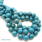 Bronze Infused Mosaic Turquoise Beads