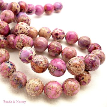 Light Purple Impression Stone Beads