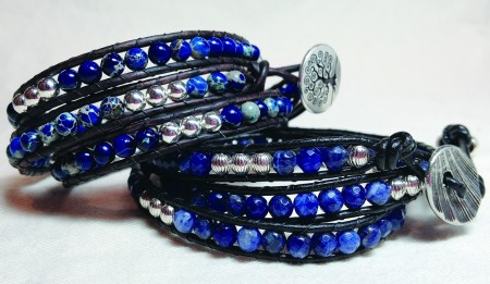 Gemstone Bead Wrap Bracelets from Lyn Ryse Designs