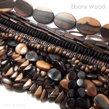 Ebony Wood Beads at Beads & Honey
